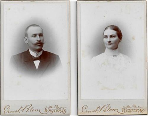 Aron Johansson med maka Wilhelmina (Augusta)